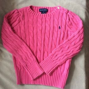 Girls Pink Sweater, 5, Ralph Lauren